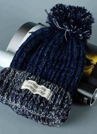 Стильна яскрава в'язана шапка 13230