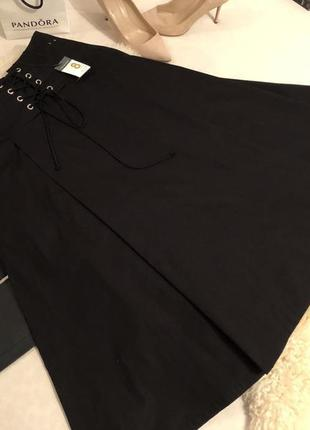 Мега крутая воздушная юбка с шнуровкой на талии и кармашками по бокам ...💋👠💄
