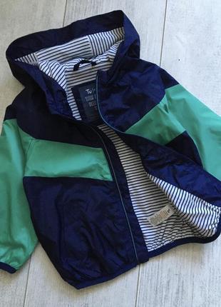 Куртка ветровка на хлопковой подкладке 1-2 года
