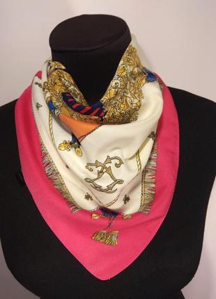 Платок платочек на шею на сумку яркий шелковый новый качественный
