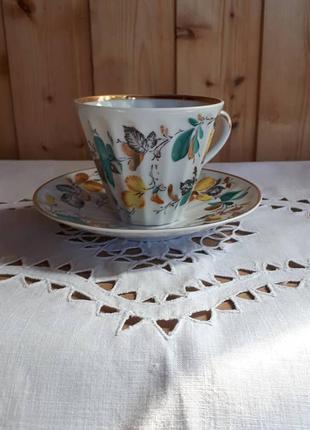 Фарфоровая чайная пара лфз.