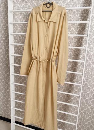 Дизайнерское платье-рубашка, удлиненная рубашка италия. льняная рубашка
