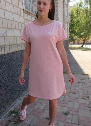 Платье повседневное спортивное, платье-футболка
