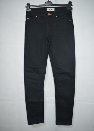 Джинсы acne flex wet black jeans black denim slim