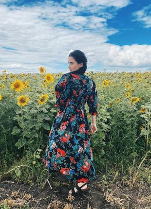 Винтажное платье в цветы zechner austria