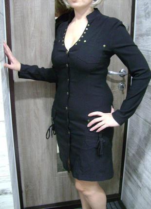 Платье черное defile