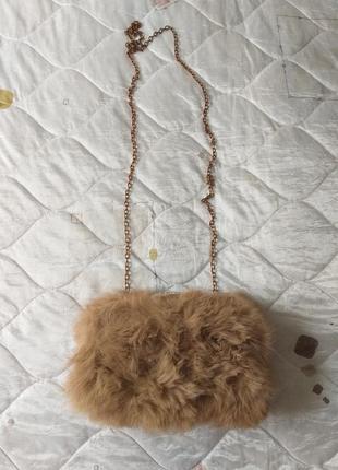 Меховая сумка. меховой клатч. сумочка. мех кролика. рыжая сумка. натуральный мех.