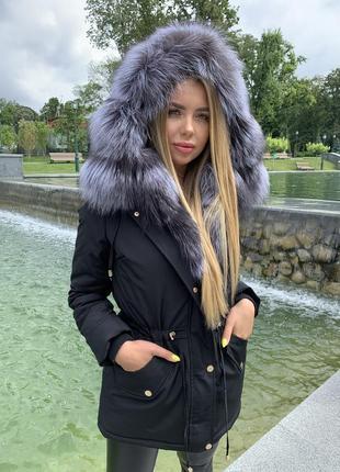 Зимняя куртка с натуральным мехом. зимняя парка с мехом1 фото