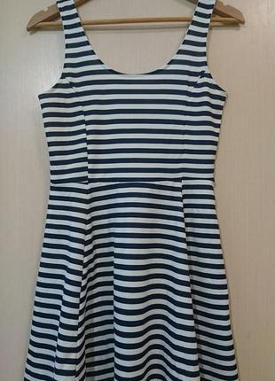 Летнее платье в полоску/морской стиль3 фото