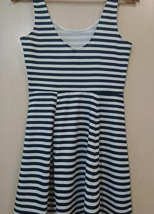 Летнее платье в полоску/морской стиль4 фото