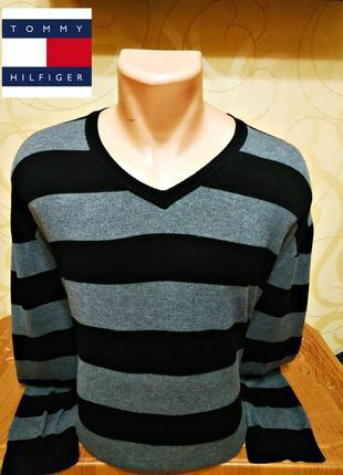 Пуловер с v-образным вырезом  tommy hilfiger, оригинал