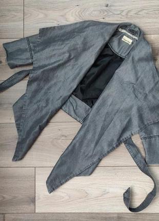 1+1=3! стильная куртка накидка цвета асфальт crafted
