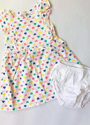 Сукня carter's з трусиками, 12м {72-78 см}, біле плаття