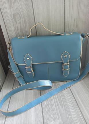 Класная голубая сумка кросбоди