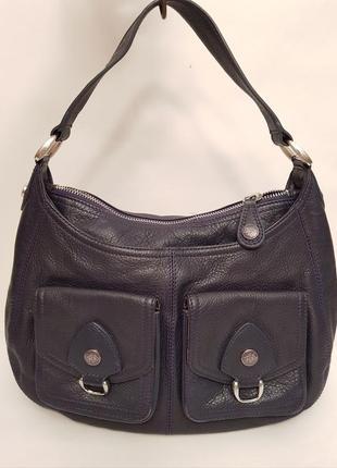 Бесподобная кожаная дизайнерская сумка ted baker англия красивый темно сливовый цвет