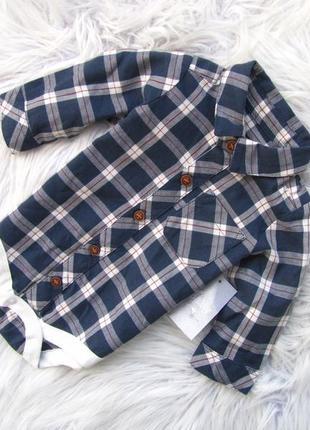Боди рубашка кофта с длинным рукавом matalan