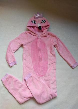 Ромпер теплый george фламинго,слип,человечек махровый,пижама,сліп,піжама,кенгуру