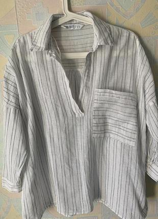 Блузка натуральная оверсайз xs