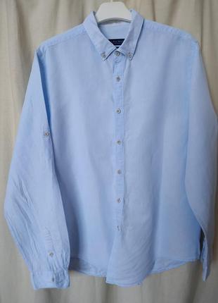 Мужская брендовая хлопковая рубашка