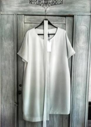 Платье сукня офис футляр кокон миди