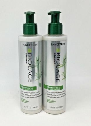 Matrix biolage advanced fiberstrong leave-in cream крем для ослабленных волос.