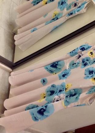 Нове. плаття шовк айворі  брендове coast  ivory silk  floral dress оригінал