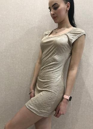 Платье мини блестящее