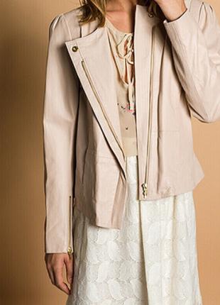 Новая премиум куртка косуха hoss intropia, 100% кожа пудра жакет супер тренд