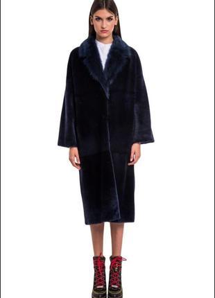 Отличная мутоновая шуба из натурального меха/меховая шуба/дублёнка/пальто/шуба/полушубок