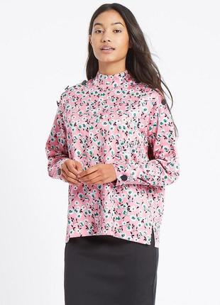 Шикарная очень качественная блуза от m&s рр 10 наш 44