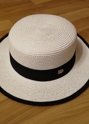 Стильная шляпа канотье белая 56-58 gucci