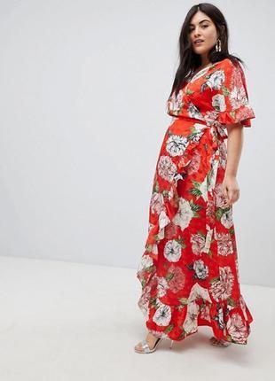 Шикарное платье на запах  asos