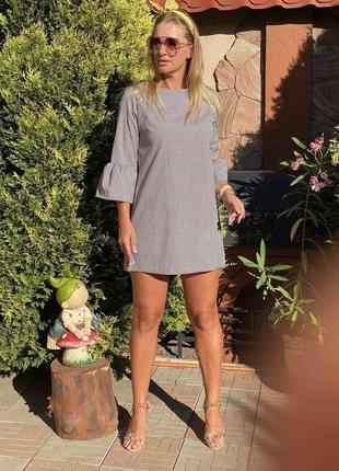 Платье осень италия с рукавом