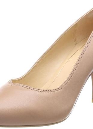 Кожаные туфли clarks dalia rose р.7- 26,5см