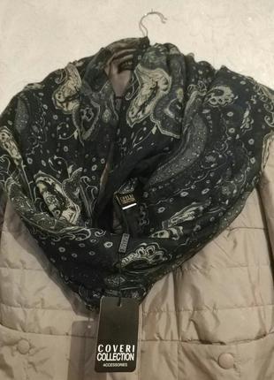 Оригинал! шарф, платок, палантин бренда coveri италия