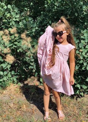 Воздушное платье next с набивным кружевом распродажа летнего