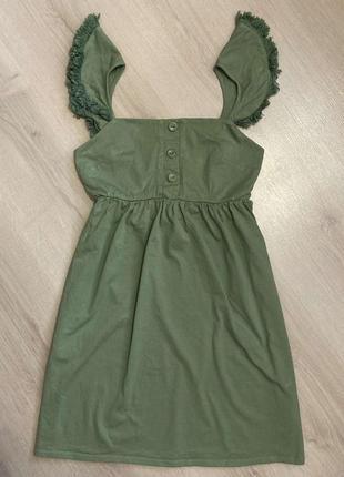 Красивое новое хлопковое платье сарафан британского бренда asos