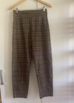 Брендовые брюки/штаны из натуральной ткани lv