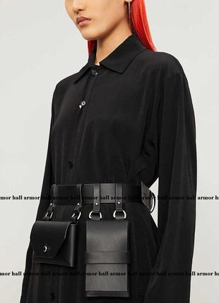 Пояс кожаный с  навесными карманами ручной работы. натуральная кожа(цвета разные)