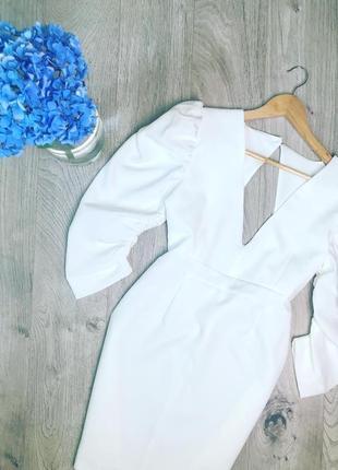 Тренд сукня!!! об'ємний рукав/виріз на спинці/довжина міні.