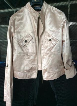 Куртка бомбер ветровка пудрового цвета gai mattiolo