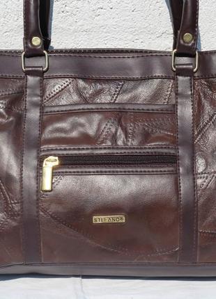 Кожанная сумка stefa and