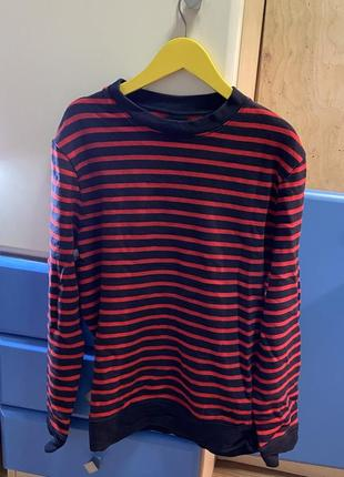 Свитшот джемпер свитер в полоску h&m