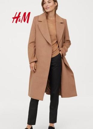 Скидка! трендовое премиальное пальто из 100% шерсти от бренда h&m premium quality