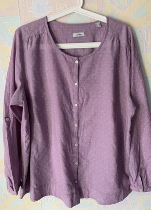Сиреневая блузка из хлопка 46