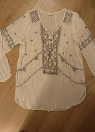 Блуза -туника вышитая marks&spencer
