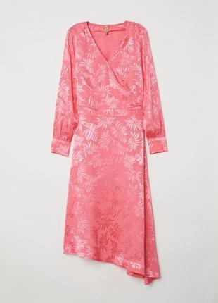 Нежно розовое платье h&m из жаккардового плетения скидка 🔥🔥🔥🔥