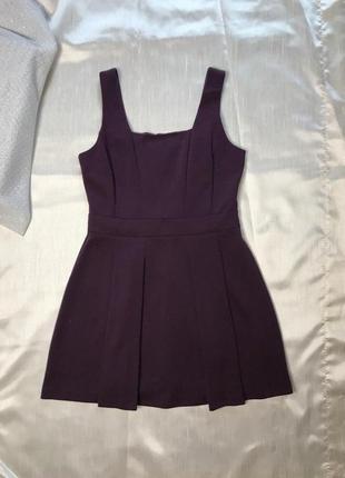 Супер платье-сарафан для офиса цвет сливы