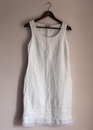 Per una/ коттон/ белое платье