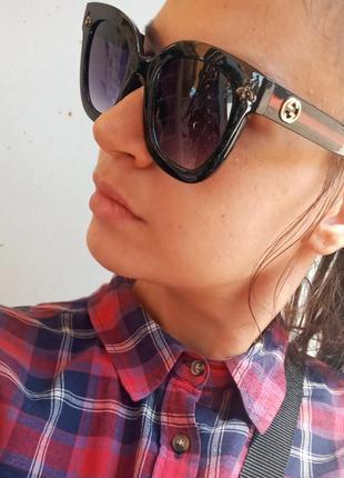 Gucci крутые крупные очки мухи  распродажа остатков витрины